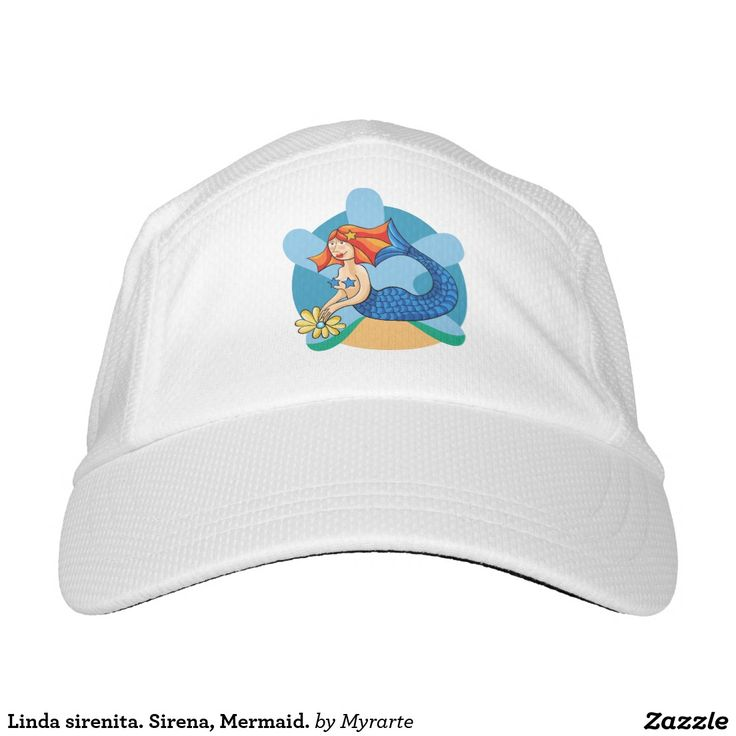 Linda sirenita. Sirena, Mermaid. Producto disponible en tienda Zazzle. Accesorios, moda. Product available in Zazzle store. Fashion Accessories. Regalos, Gifts. Link to product: http://www.zazzle.com/linda_sirenita_sirena_mermaid_hat-256119603002981498?CMPN=shareicon&lang=en&social=true&view=113734723267637565&rf=238167879144476949 #gorra #hat #sirena #mermaid