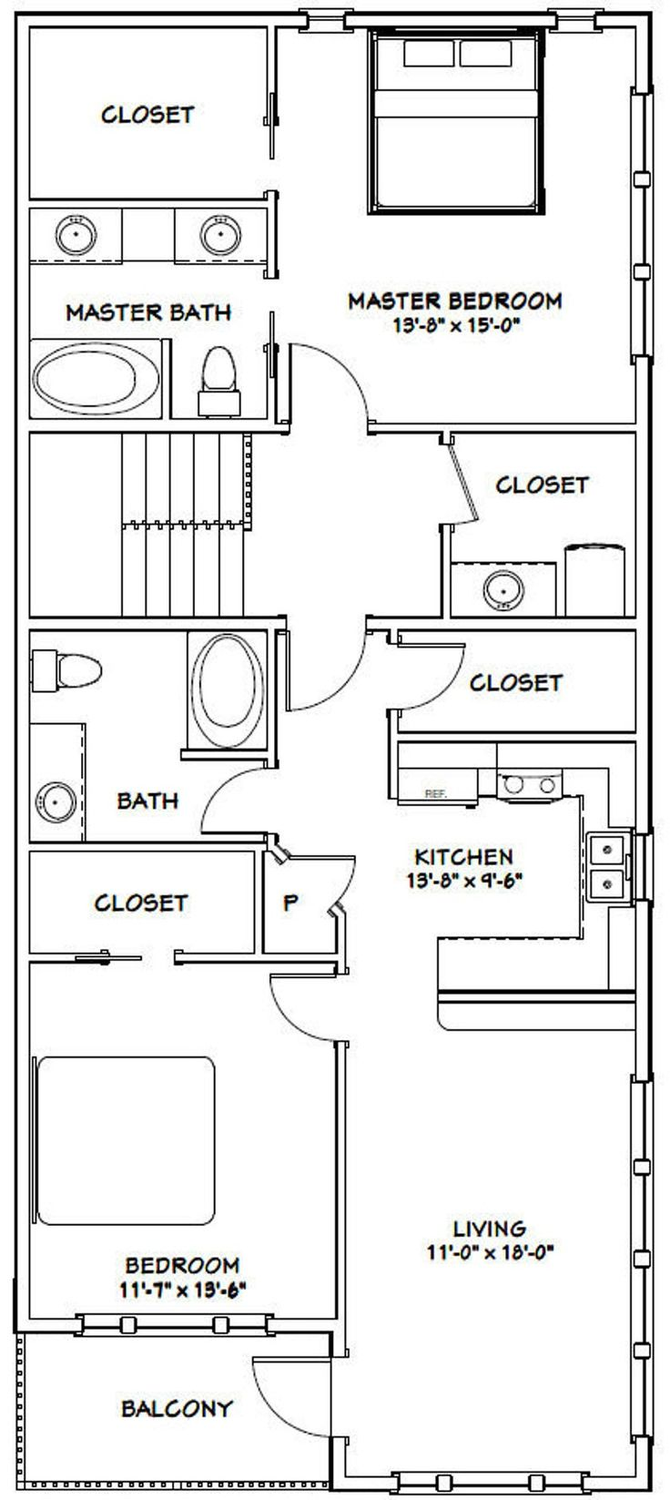 60x50 House 2Bedroom 2.5Bath 1,694 sq ft PDF