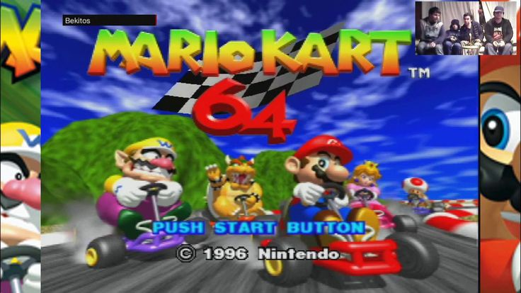 Mario Kart 64 4 players battle