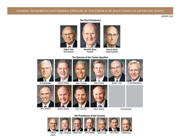 Many changes have come to our Church leadership over the last six months, and all of them are reflected on this new chart of General Authorities and general Church officers.