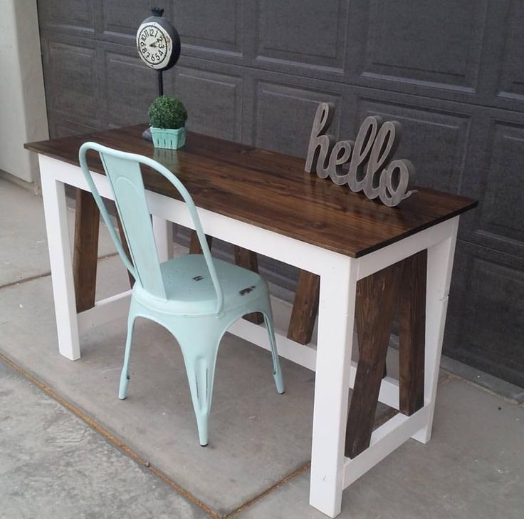 """How cute is this desk that @sawdustcreators built using our plans! #nailedit…"