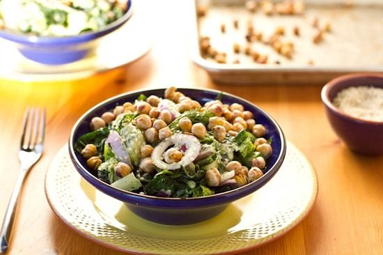 I must try this salad.  So many of my favorite things in a bowl - chickpeas, dill, vinegar, lemon, garlic, sesame seeds...YUMMMMM!