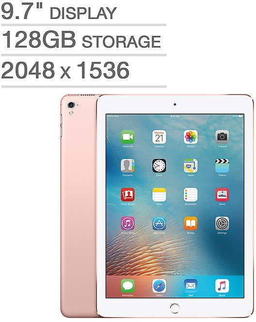 Costco offers Apple IPad Pro A9X Chip 128GB Cellular for $399.99, Free shipping, found by warunamail on 3/7/18.