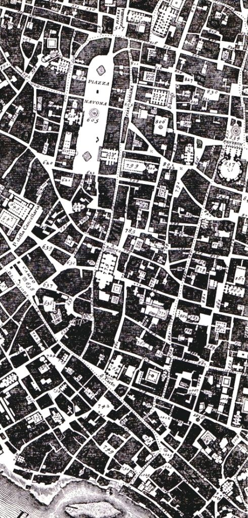 Giambattista Nolli's map of Rome, drawn in 1748 and still available in facsimile reproduction, is well known to most Western architects for one reason only. It is known not because it records one o...