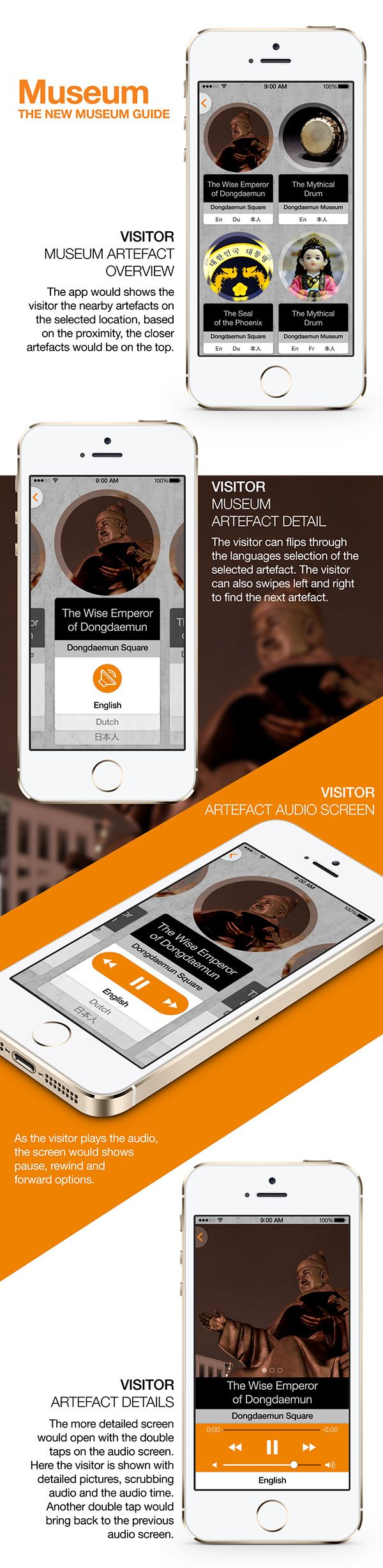 Museum Guide App on Behance