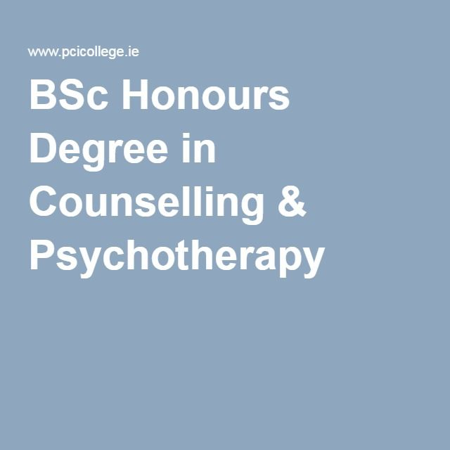 BSc Honours Degree in Counselling & Psychotherapy