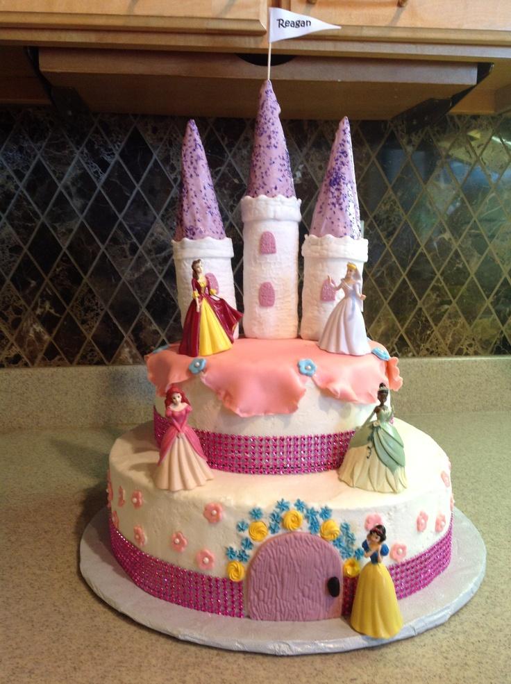 Disney Princess Castle Birthday Cake!