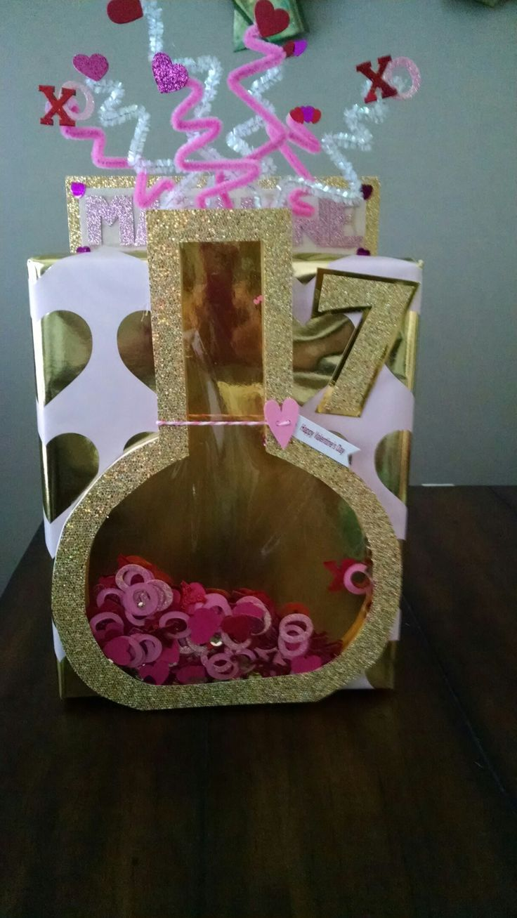 Exploding Love Potion Valentine's day box for school party