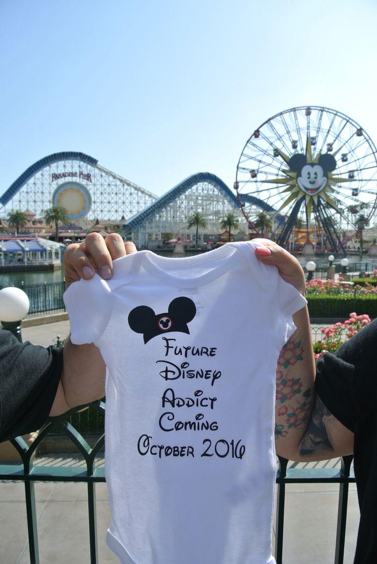 Disney onesie baby announcement
