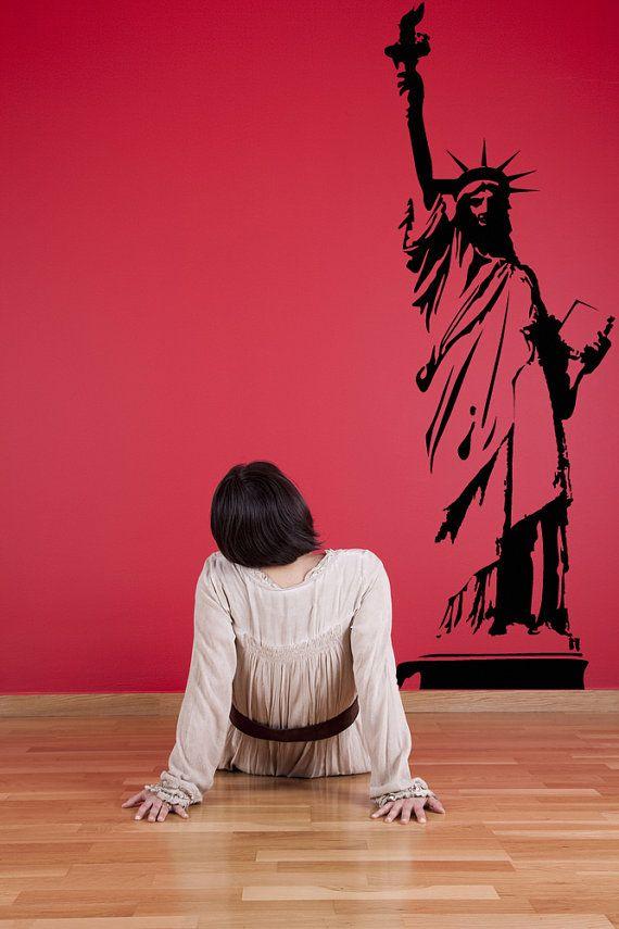 Statue of LIberty, NYC Art, NYC Wall Decal, New York City Wall Decor, Wall Sticker, Vinyl Art, New York Art, State, USA, Lady Liberty