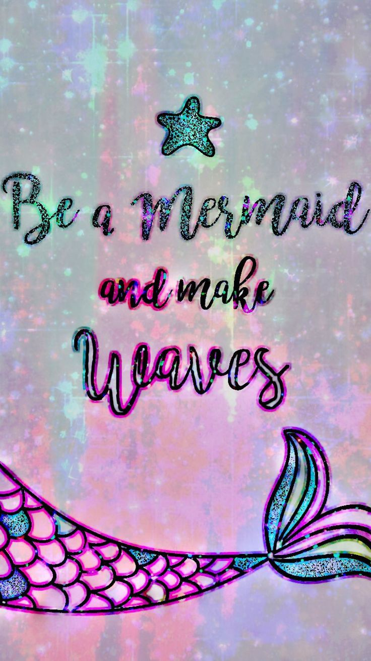 Glittery Mermaid Quote Made By Me Mermaid Quotes