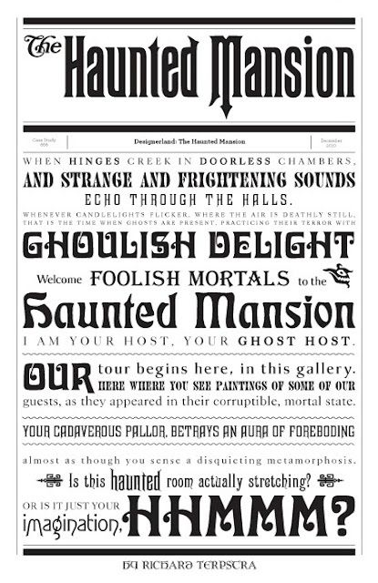 Disney Haunted Mansion script from narration : we get goosebumps just reading it! we love you, ghost host!