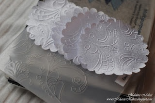 Emboss fabric!! How neat is this?!? (works with the Cuttlebug, too)