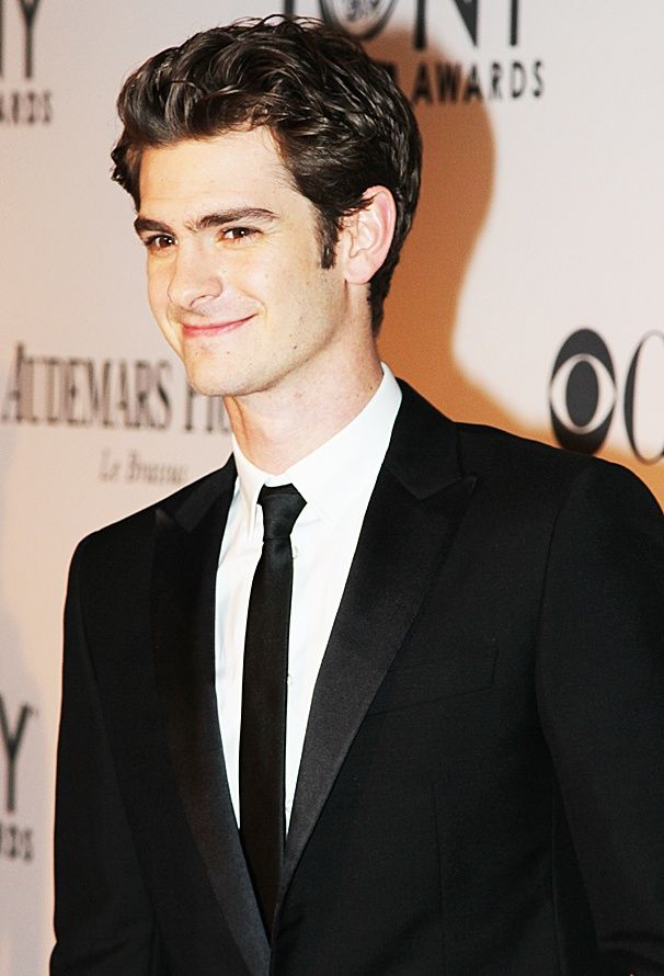 Andrew Garfield on the Tony Awards red carpet