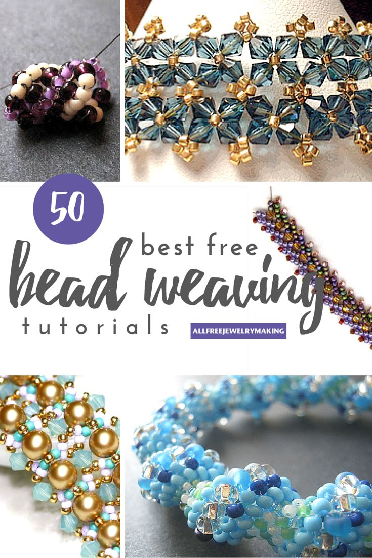 50 Best Free Bead Weaving Patterns | From brick stick bracelets to net necklaces, there's a tutorial here you'll fall in love with.