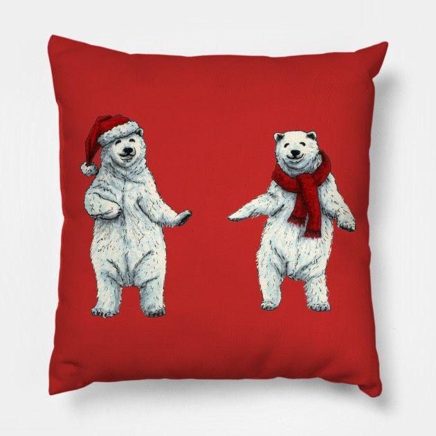 The polar bears wish you a Merry Christmas Throw Pillow by @savousepate on TeePublic #xmas #christmas #merryxmas #merrychristmas #polarbears #pillow #throwpillow #xmasdecor #christmasdecor