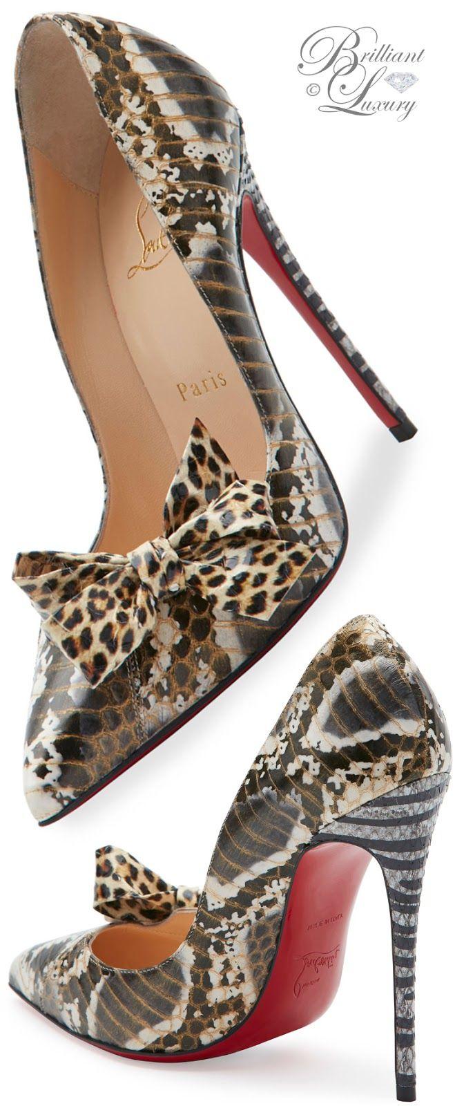 bows.quenalbertini: Christian Louboutin Madame Menodo Snakeskin | Brilliant Luxury