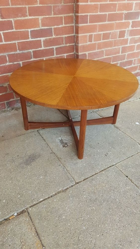 Genuine Parker Danish Style Coffee Occasional Table Round Circular Vintage Mid C in Home & Garden, Furniture, Tables | eBay!