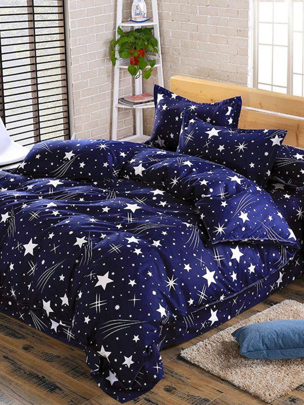 424bdb0039 2.0m 4Pcs Galaxy Print Full Over Bed Sheet Set -SheIn(Sheinside ...