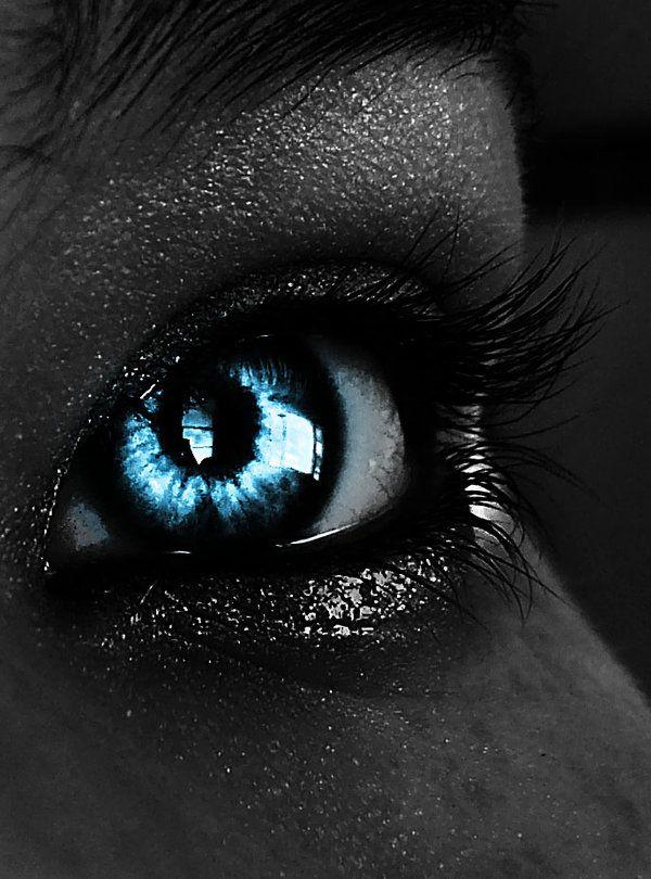glittered black eye.