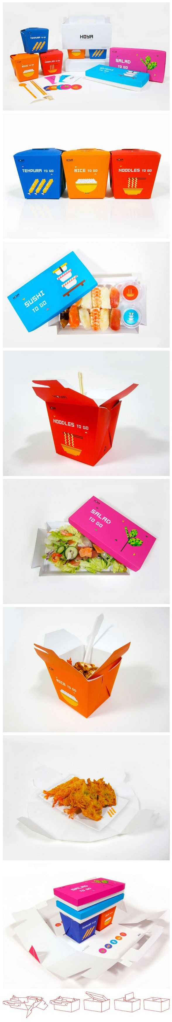 HOYA is a famous Japanese restaurant near some universities in Seoul, Korea. Danbi Yu, Let's have lunch with sweet take-away color #packaging to go : ) PD