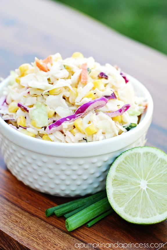 Tangy Corn Coleslaw Recipe, substitute mayo with vegan mayonnaise from earth balance.