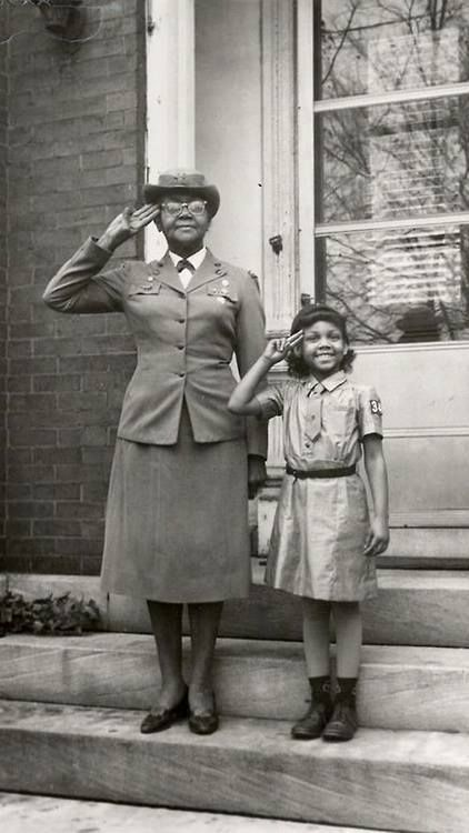 """Josephine Holloway was one of the first African American Girl Scout troop leaders. She lobbied for the inclusion of African Americans in the Girl Scouts. (via """"Girl Scouts Dakota Horizons"""")"""