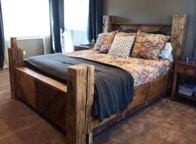 Reclaimed Barn Wood And Beam Bed Amazing Courtney