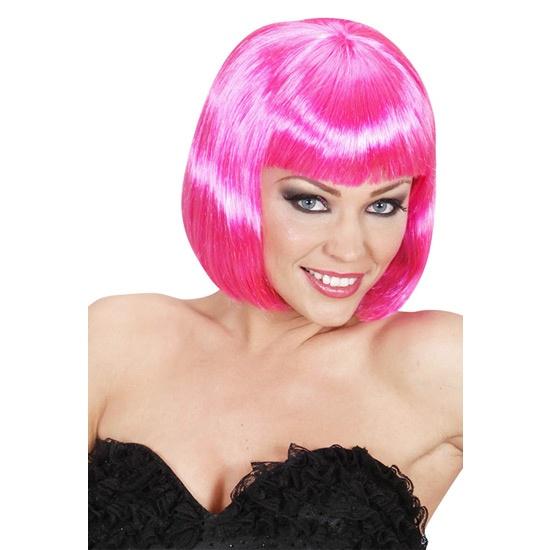Lovely peluca rosa    Peluca de la firma Widmann con las que podrás cambiar cada día el corte, largo o color de tu pelo