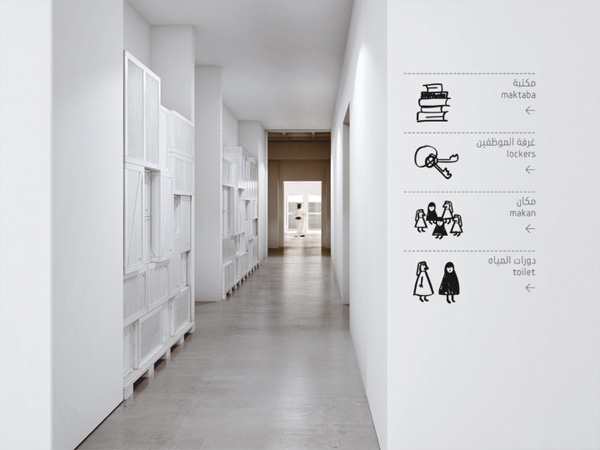 Information on walls to help navigation