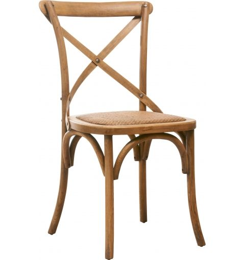 Charlotte Wooden X-back Chair, Weathered Oak
