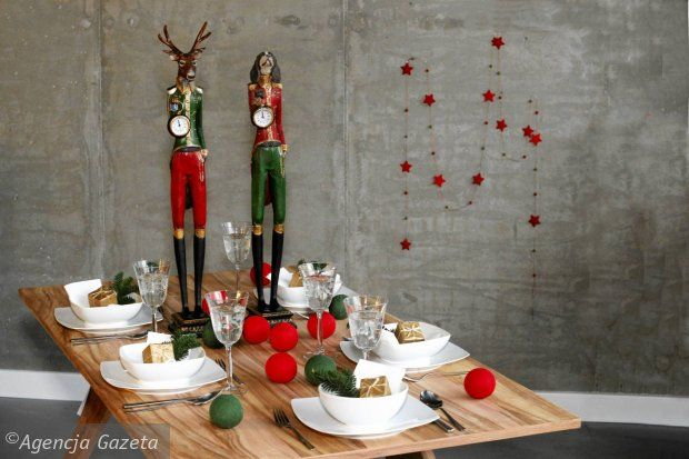 Photo session in our shop - Christmas table - XII 2013