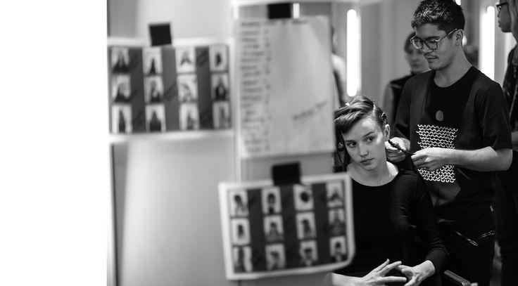 #backstage #hair #fashion Photo by Damien Nikora