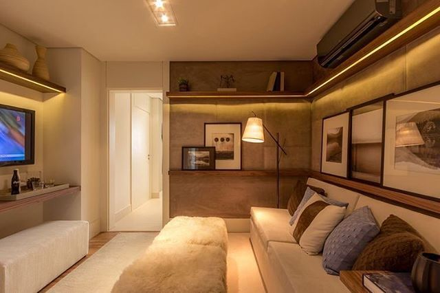 Uma sala de TV mais que confortável + um bom filminho = saturday night feelings  {PS: não encontrei o autor do projeto, alguém??}