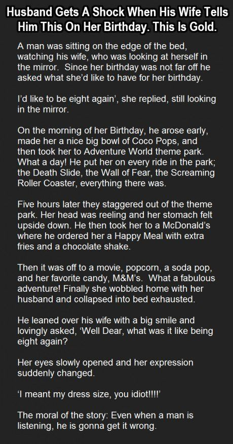 He Tried Doing Something Nice For His Wife's Birthday. Her Response Is Shocking.
