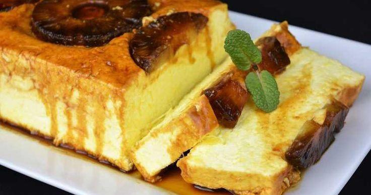 Una tarta fría que se prepara sin necesidad de encender el horno y con un exquisito sabor a piña. Una receta del blog COCINA FAMILIAR CON JAVIER ROMERO.