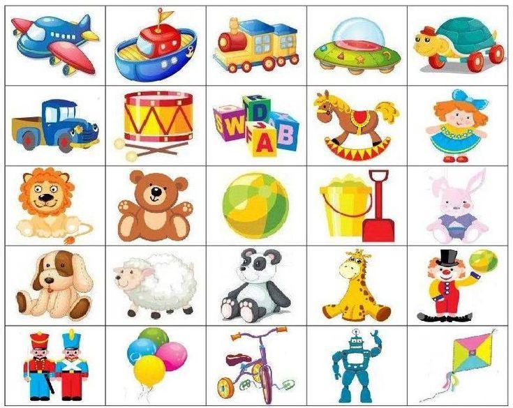 Игрушки картинки для детей с названиями
