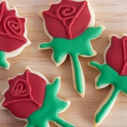 Rose Cookies for St. George's Day (in Spanish)