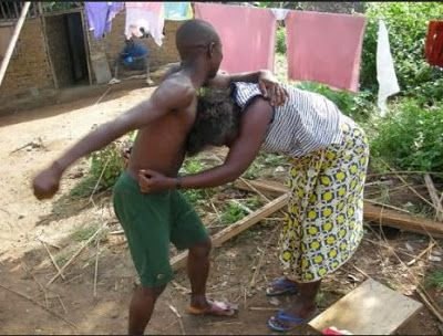 Angry Okada man beats wife mercilessly for waking him up from afternoon sleep - http://naijahub.net/angry-okada-man-beats-wife-mercilessly-waking-afternoon-sleep/