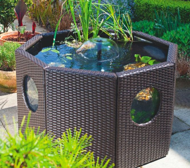 301 best images about garden ideas on pinterest gardens for Above ground koi pond design ideas