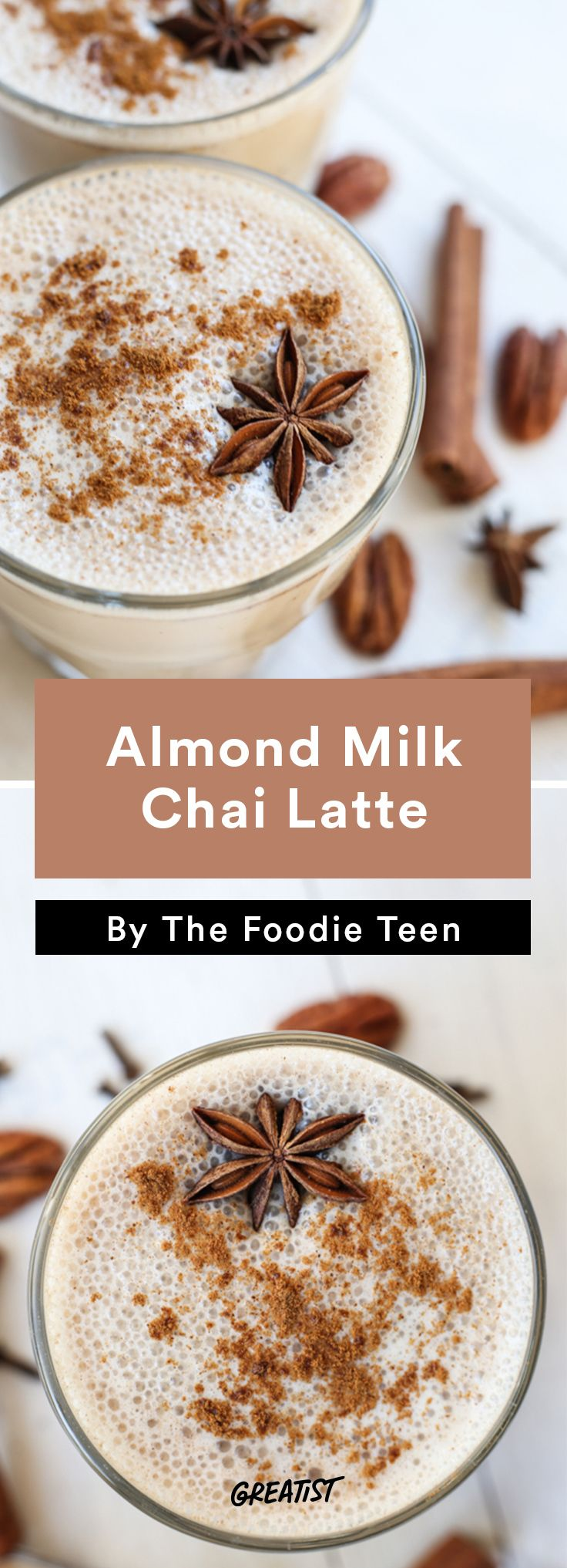 3. Almond Milk Chai Latte #warm #drinks #recipes http://greatist.com/eat/warm-drink-recipes-better-than-a-pumpkin-spice-latte
