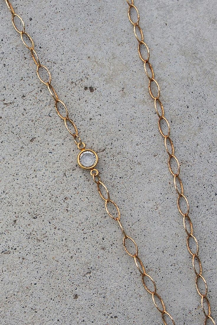 UNION | Gold Vermeil + Swarovski Maple Key Necklace
