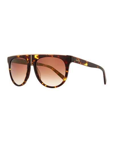 6f6fb121a Balmain Flat-Top Two-Tone Acetate Aviator-Style Sunglasses ...