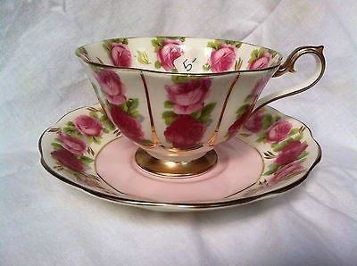 Royal Albert English Tea Cup and Saucer Old English Rose Bone China Teacup Duo