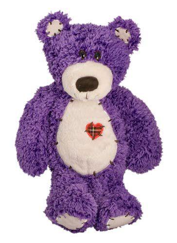 Soft Cuddly Purple Teddy Bear with Heart