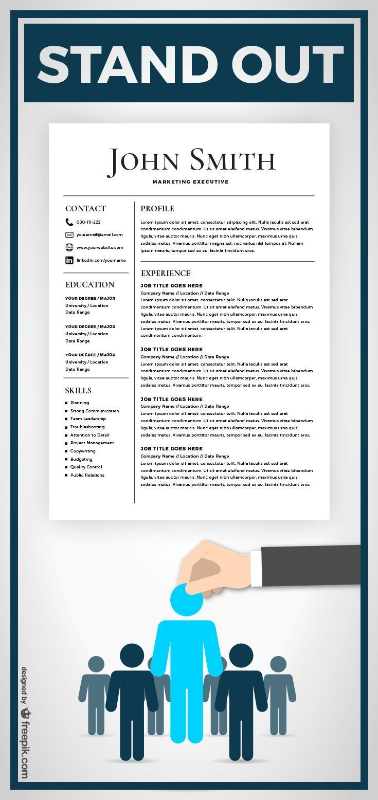 Resume Template Cv Template With Cover Letter Ms Word On Etsy Resume Template Best Resume Template Resume