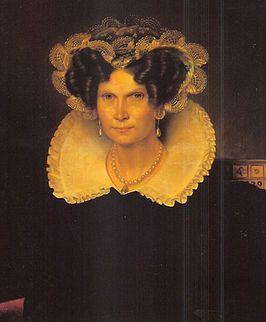 Koningin Wilhelmina, omstreeks 1830. Echtgenote van koning Willem I. Vier kinderen: Willem 1792-1849 (koning Willem II) Frederik 1797-1881 en Pauline 1800-1806 en Marianne 1810-1883