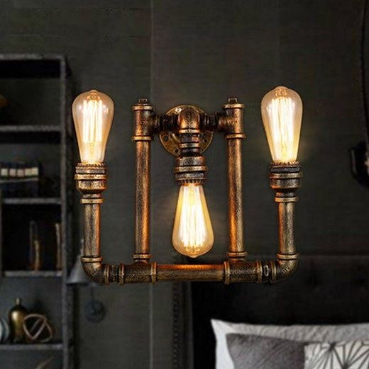 creative retro loft style water pipe edison wall lamp indoor vintage industrial wall light fixtures for ailse bar dining room