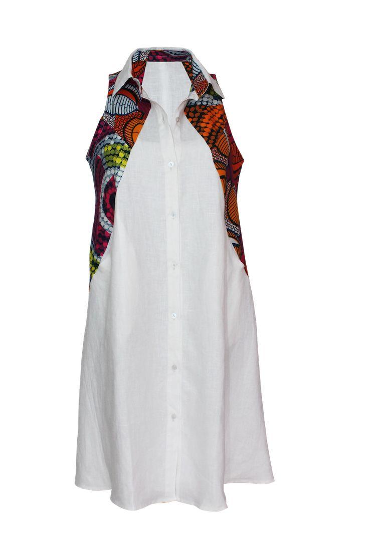YALERRI – Robe Chemise en lin                                                                                                                                                     Plus