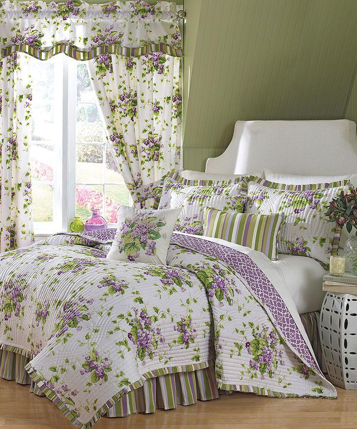 waverly sweet violets quilt set u0026 accessories found at